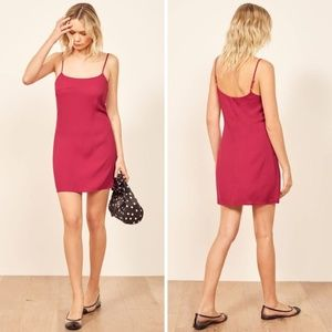 NEW Reformation Lindsay Dress in Rhubarb